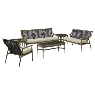 Liloh 4 Piece Lounge Seating Group with Cushions