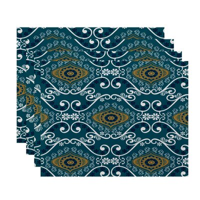 Soluri Illuminate Print Placemat Color: Blue