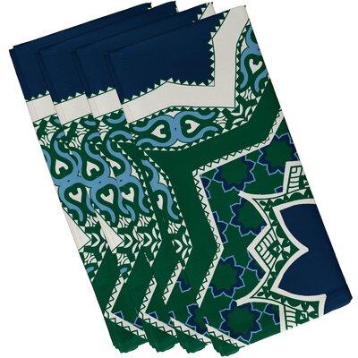 Soluri Rising Star Print Napkin Color: Navy Blue