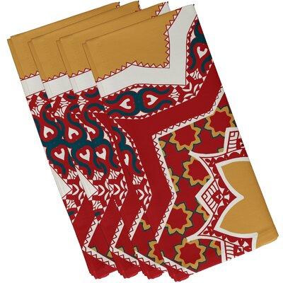 Soluri Rising Star Print Napkin Color: Gold