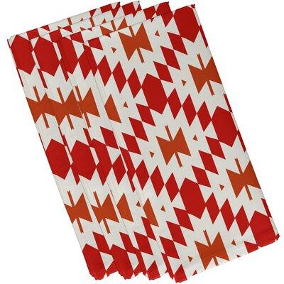Soluri Patna Geometric Print Napkin Color: Orange