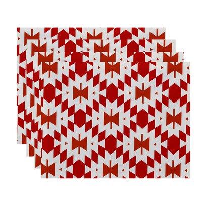 Soluri Patna Geometric Print Placemat Color: Orange