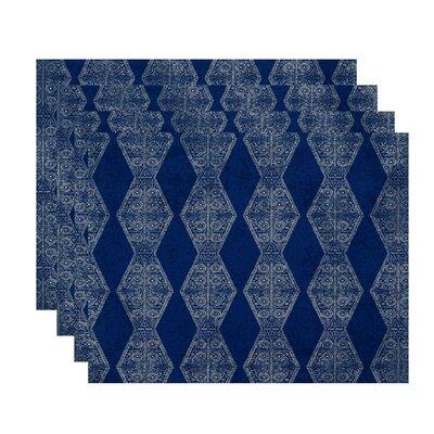 Soluri Pyramid Stripe Geometric Print Placemat
