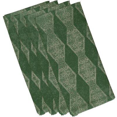 Soluri Pyramid Stripe Geometric Print Napkin Color: Green