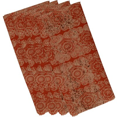 Soluri Patina Print Napkin Color: Orange/Rust