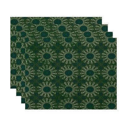 Soluri Sun Tile Geometric Print Placemat Color: Green