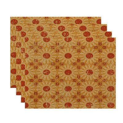 Soluri Sun Tile Geometric Print Placemat Color: Gold