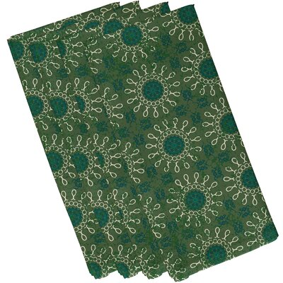 Soluri Sun Tile Print Napkin Color: Green