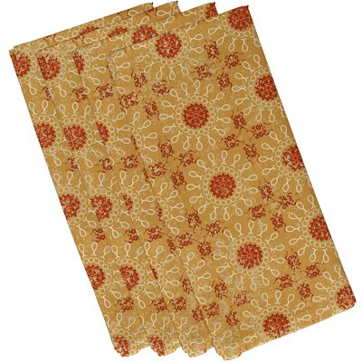 Soluri Sun Tile Print Napkin Color: Gold