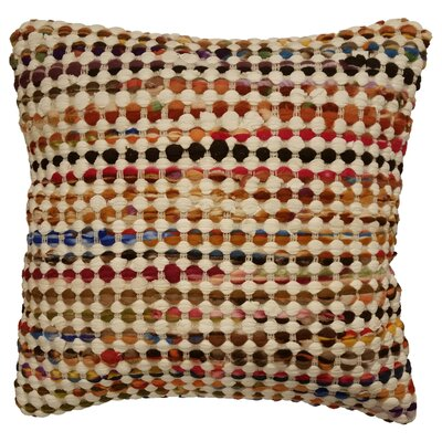 Rusin Throw Pillow Color: Tan / Multi