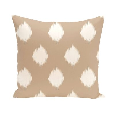 Arlington Geometric Throw Pillow Color: Taupe / Off White, Size: 18 H x 18 W