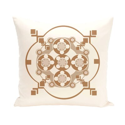 Anita Geometric Throw Pillow Size: 26 H x 26 W, Color: Ivory / Brown