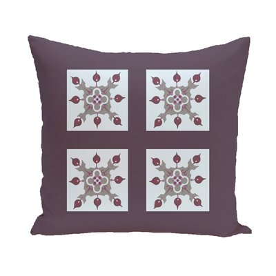 Anita Geometric Throw Pillow Size: 26 H x 26 W, Color: Purple / Light Gray