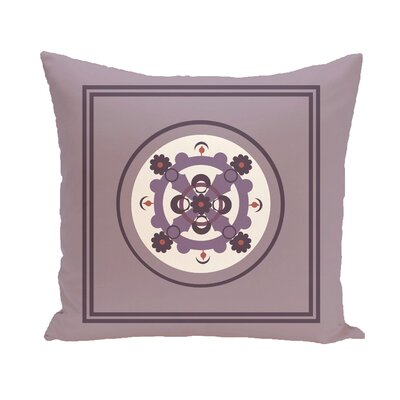 Souihla Geometric Print Outdoor Pillow Color: Smog, Size: 16