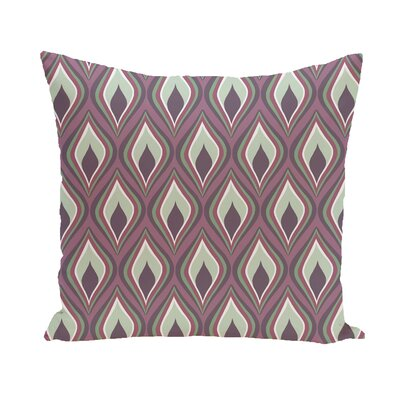 Menara Geometric Throw Pillow Size: 18 H x 18 W, Color: Ivory / Rust