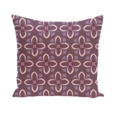 Katrina Throw Pillow Color: Navy Blue / Beige, Size: 26 H x 26 W
