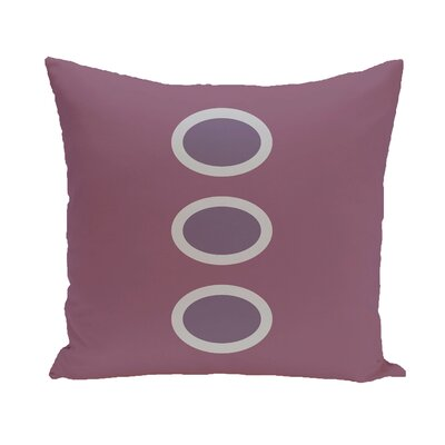 Katrina Geometric Throw Pillow Size: 18 H x 18 W, Color: Teal / Teal