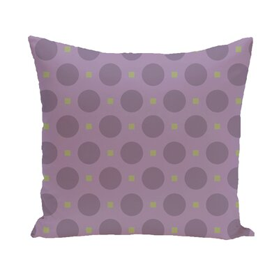 Katrina Geometric Throw Pillow Size: 18 H x 18 W, Color: Coral / Aqua