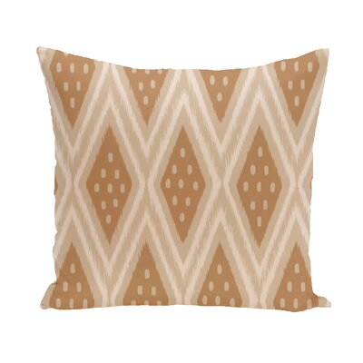 Arlington Geometric Throw Pillow Size: 16 H x 16 W, Color: Taupe / Brown
