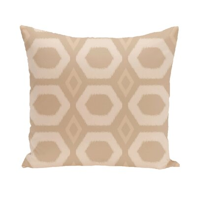 Anita Geometric Throw Pillow Color: Taupe / Beige, Size: 18 H x 18 W