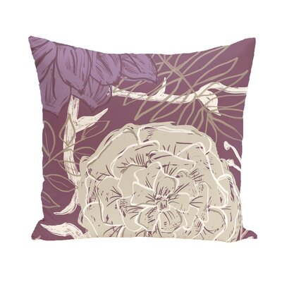 Emalina Throw Pillow Size: 16 H x 16 W, Color: Purple / Taupe