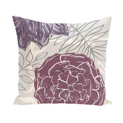 Katrina Polyester Throw Pillow Size: 20 H x 20 W, Color: Purple / Purple
