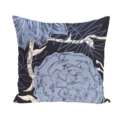 Katrina Polyester Throw Pillow Size: 26 H x 26 W, Color: Navy Blue / Blue