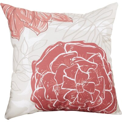 Emalina Throw Pillow Size: 18 H x 18 W, Color: Rust / Coral