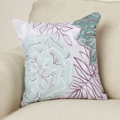 Katrina Polyester Throw Pillow Size: 26 H x 26 W, Color: Green / Purple