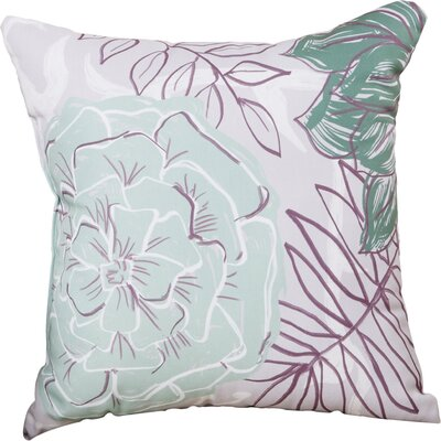 Emalina Throw Pillow Size: 16 H x 16 W, Color: Green / Purple