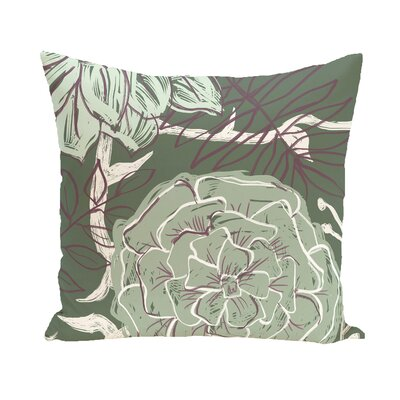 Katrina Polyester Throw Pillow Size: 26 H x 26 W, Color: Green / Green