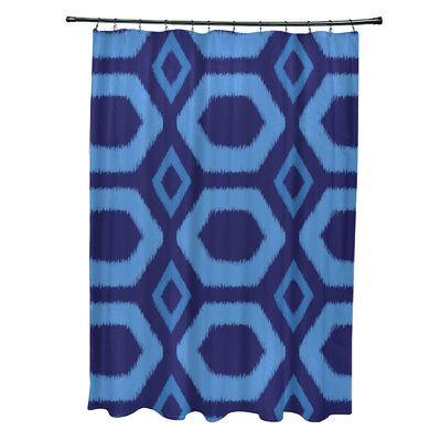 Anita Geometric Shower Curtain Color: Royal Blue/Blue