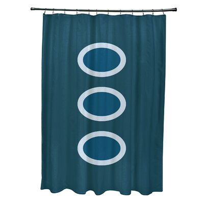 Katrina Geometric Shower Curtain Color: Teal