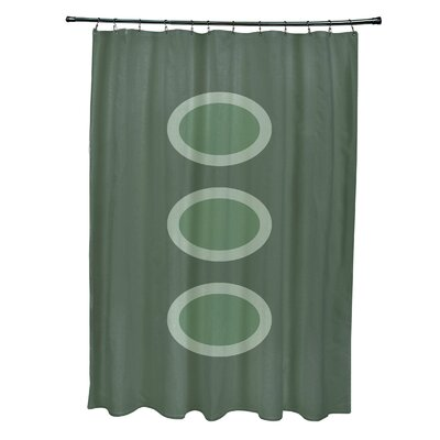 Katrina Geometric Shower Curtain Color: Green