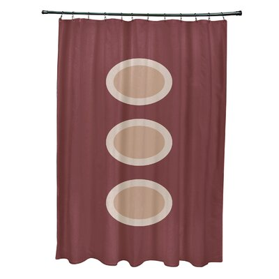 Katrina Geometric Shower Curtain Color: Rust/Taupe