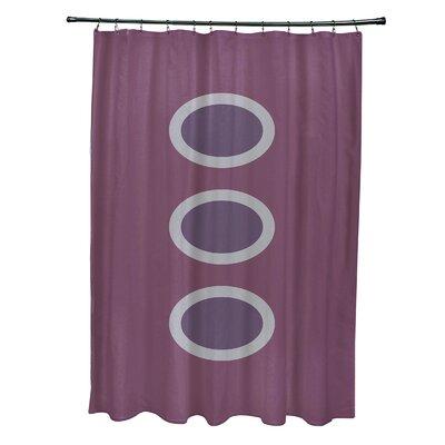 Katrina Geometric Shower Curtain Color: Purple