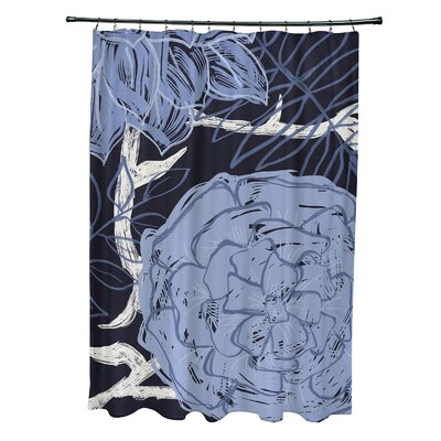 Katrina Shower Curtain Color: Navy Blue/Blue