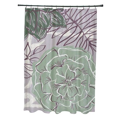 Katrina Shower Curtain Color: Green