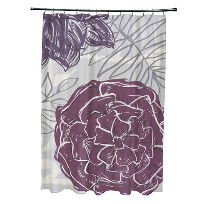 Katrina Shower Curtain Color: Purple