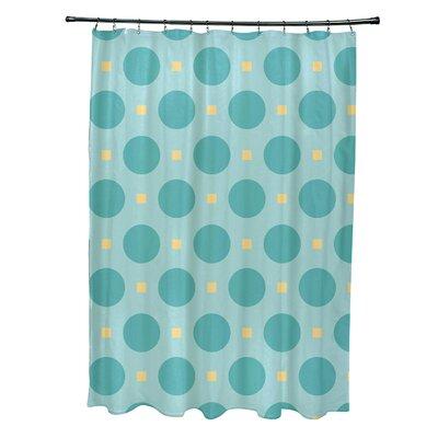 Katrina Geometric Shower Curtain Color: Light Blue/Aqua