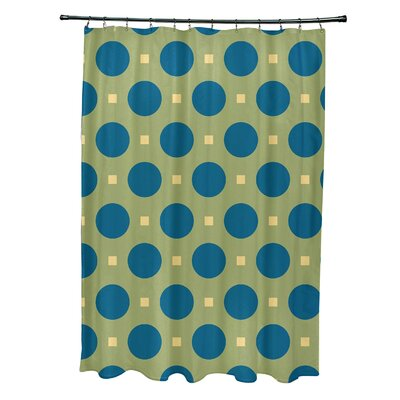 Katrina Geometric Shower Curtain Color: Green/Teal