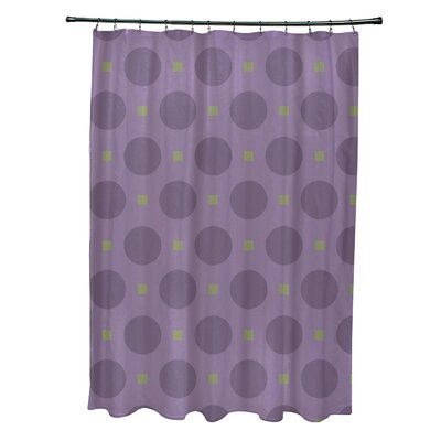 Katrina Geometric Shower Curtain Color: Purple/Green