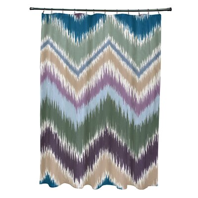 Arlington Chevron Shower Curtain Color: Green
