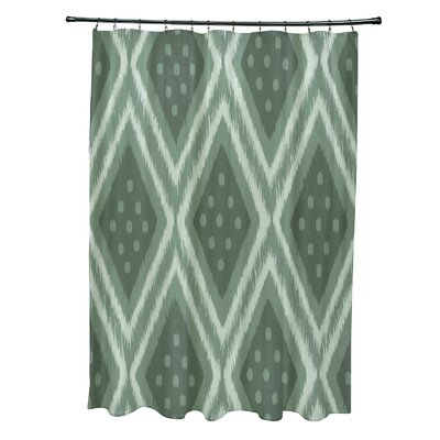 Arlington Geometric Shower Curtain Color: Green