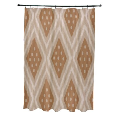 Arlington Geometric Shower Curtain Color: Beige/Brown