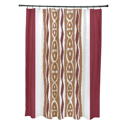 Arlington Stripes Shower Curtain Color: Rust/Brown