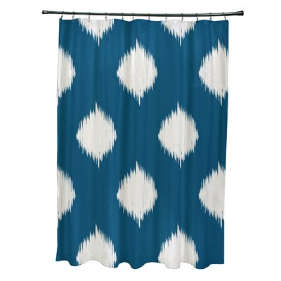 Arlington Geometric Shower Curtain Color: Teal/Ivory