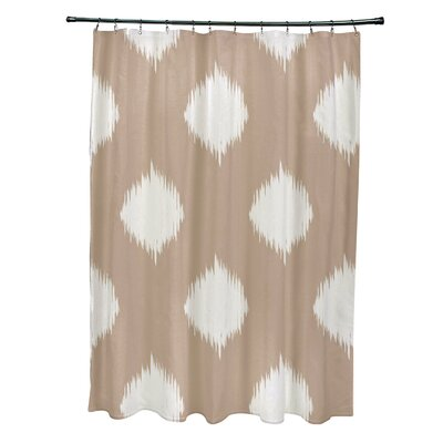 Christian Geometric Shower Curtain Color: Beige/Ivory