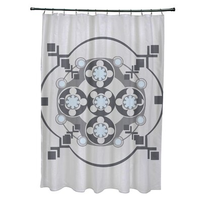 Anita Geometric Shower Curtain Color: Light Gray/Dark Gray