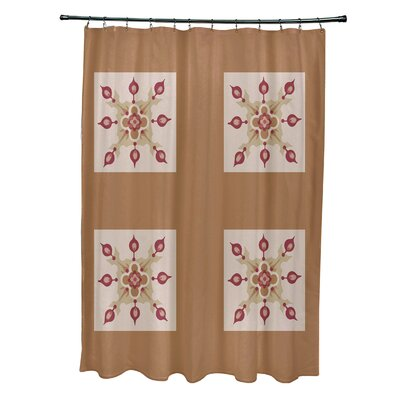 Anita Geometric Shower Curtain Color: Brown/Taupe